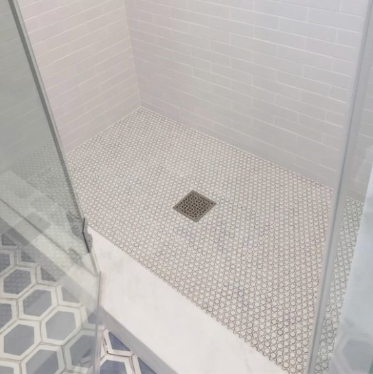 Shower pan - Image from Brooke Wagner Design