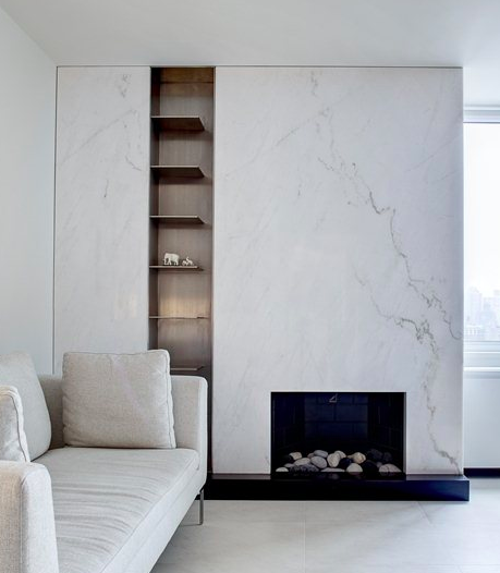 SLAB FIREPLACE - A dramatic focal point for any contemporary home.Image by Archilovers