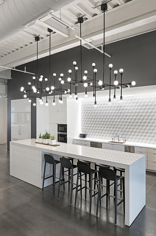 DIMENSIONAL BACKSPLASH - Most contemporary homes tend to be somewhat minimal and neutral, so if you want to add a bit of depth and interest to your kitchen a dimensional backsplash is the way to go!Image by Pinterest
