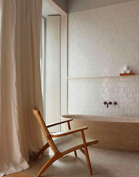 SOLID STONE TUB - Luxury has a new meaning with this solid stone tub! Image by Pinterest