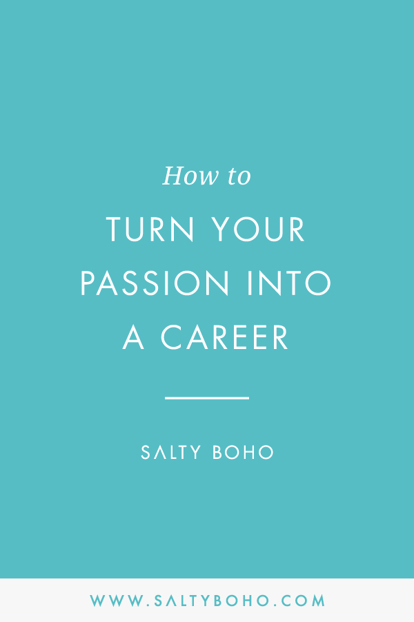 How to turn your passion into a career | Handmade Bohemian Beach Items from around the world | Salty Boho Boutique | www.saltyboho.com