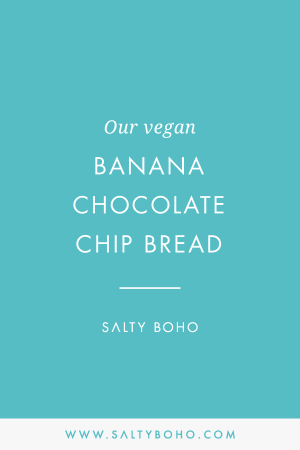 Vegan banana chocolate chip bread |  Handmade Bohemian Beach Items from Sri Lanka | Salty Boho Boutique | www.saltyboho.com