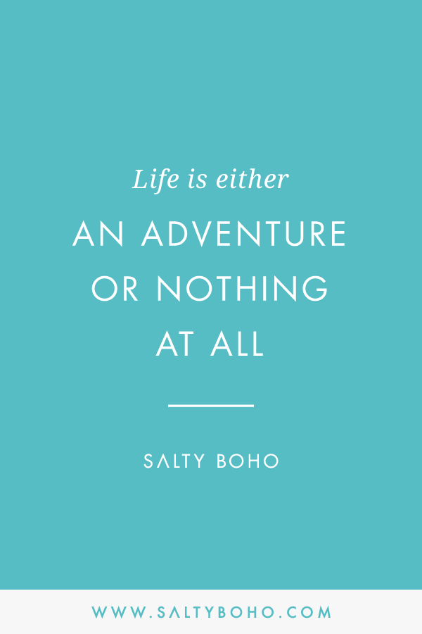 Life is either an adventure or nothing at all |  Handmade Bohemian Beach Items from Sri Lanka | Salty Boho Boutique | www.saltyboho.com