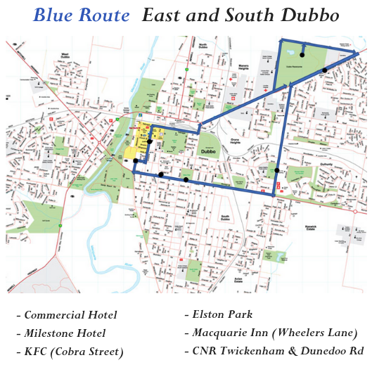 CBD and East Dubbo Bus Route