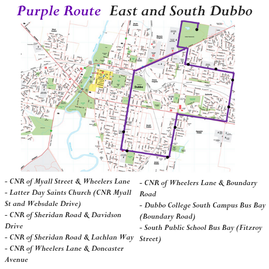 East and South Dubbo Bus Route