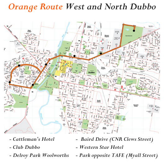 Orange Route West and North Dubbo.png