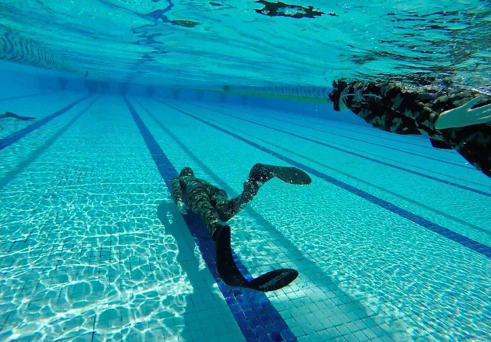 pool training for spearfishing