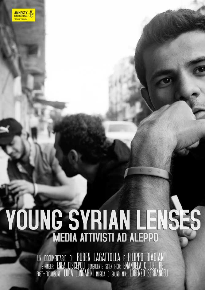 Poster ufficiale di Young Syrian Lenses. Fotografia di Ruben Lagattolla