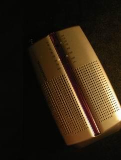 フランスに来て、一番最初に買った電化製品。電池で動くラジオ。モンペリエのFnacで購入。おっさんくさいところはご愛嬌。