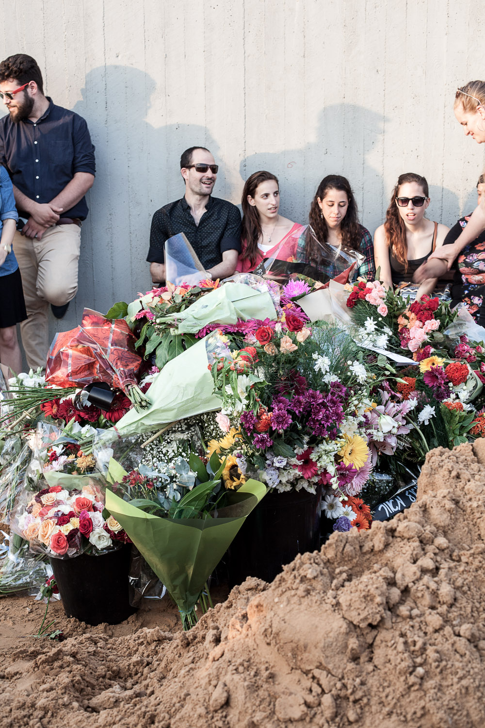 At the funeral of Esti Weinstein (1956 – 2016), a former Ultra-Orthodox who committed suicide after she left her religious life seven years before Petah Tikva, July 2016