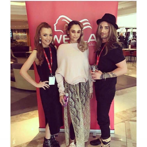 Dream Team Brad Von Miller, Lucy Kennedy MUA and Charlotte Battista Model.