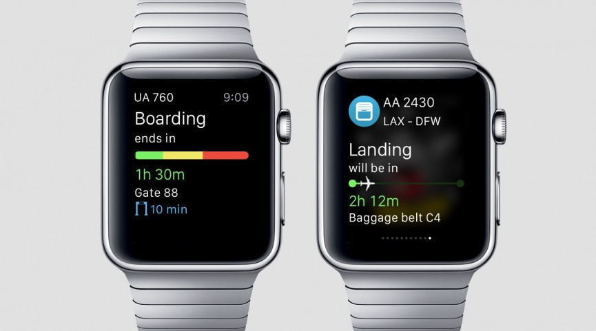 The Apple Watch app provides useful notifications, sure, but it also puts all kinds of flight information right on your wrist.