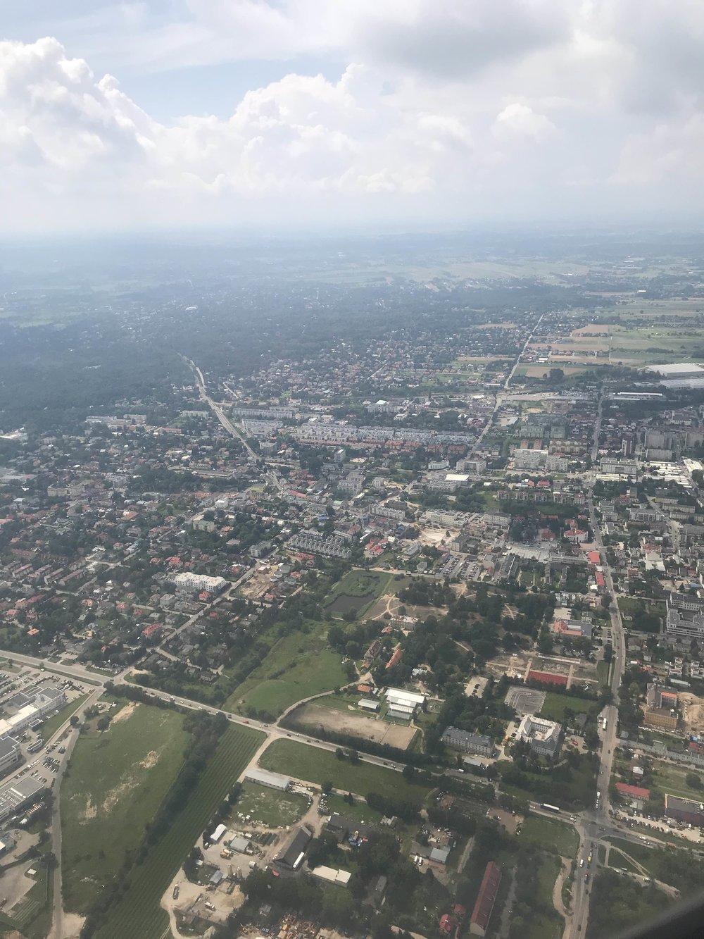 Descending into Warsaw...