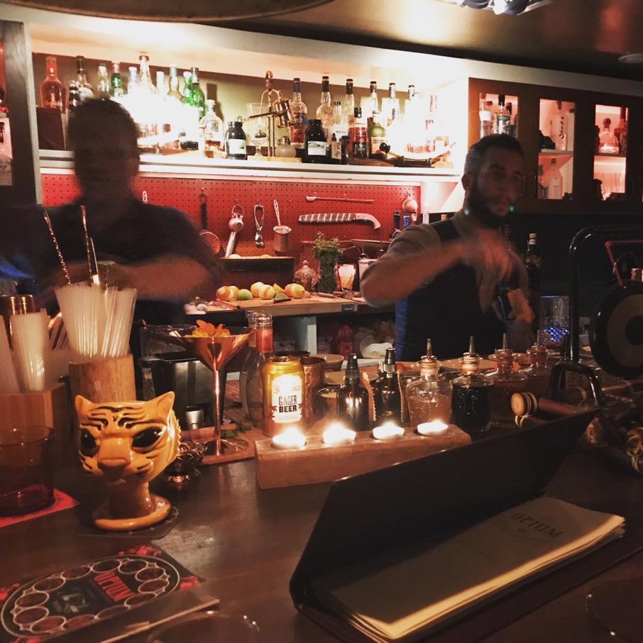 Busy bar at Opium.