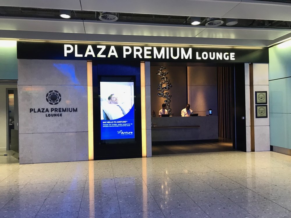 The Plaza Premium Lounge at Terminal 2 is right underneath the security clearance.