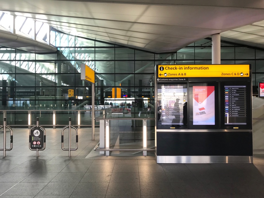 Good (very early) morning, Heathrow Terminal 2.