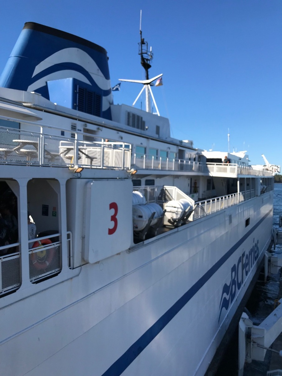 One of the Queen-class ferries that plies the route between Tsawassen (near Vancouver) and Swartz Bay (near Victoria).