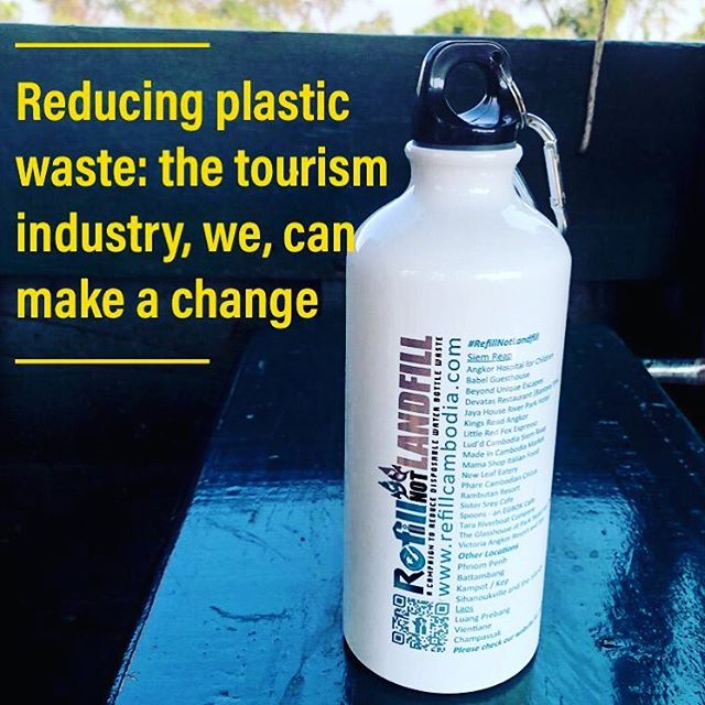 In Cambodia, Laos and Vietnam, hotels and coffee shops fill up bottles for free. The main hurdle is that some tourists only trust a sealed plastic bottle... #behaviourchange is 🗝!#lifechangingchoices #environment&science #passonplastic #walkthetalk @refillnotlandfillasia