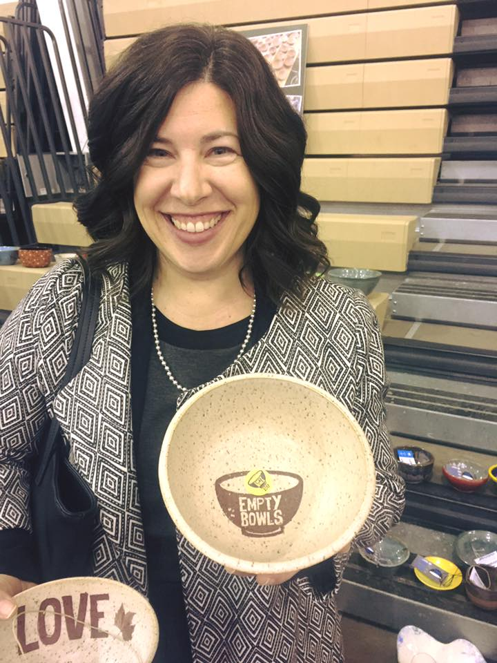Tina Pagotto, Bethesda Project CEO, shows off her bowls