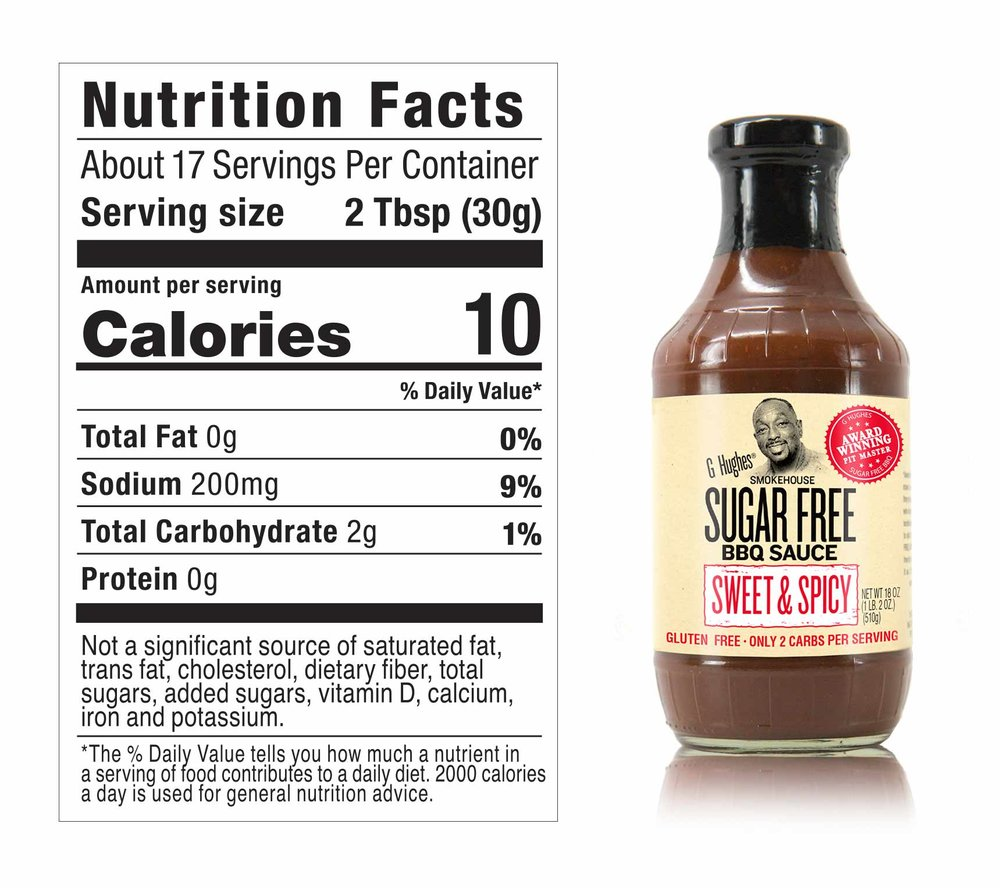 INGREDIENTS:  Vine-Ripened Crushed Tomatoes (Water, Crushed Tomatoes), Cider Vinegar, Modified Corn Starch, White Vinegar, Salt, Lemon Juice Concentrate, Dehydrated Onion, Spices, Caramel Color, Natural Hickory Smoke, Garlic Powder, Xanthan Gum, Sucralose.