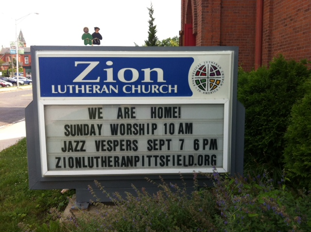 Zion Lutheran Church, Pittsfield, MA, July 2017