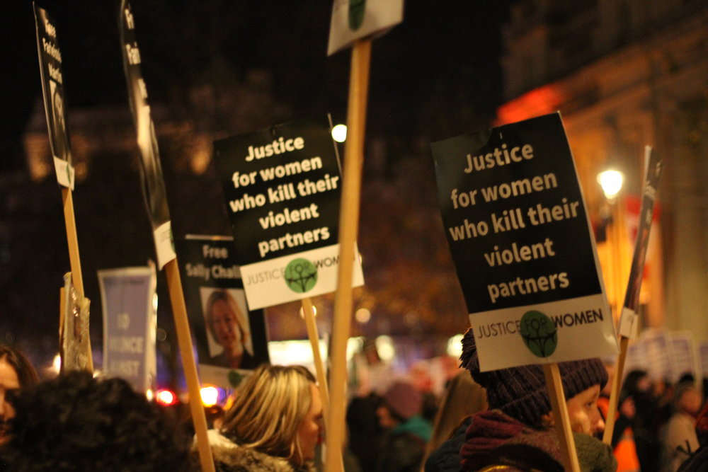 Justice for Women at Reclaim the Night London 2017