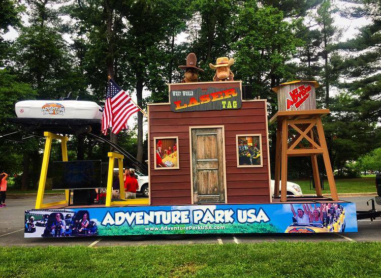 Adventure Park USA's float can be seen at many different parades throughout the area. Keep an eye out for special discounts handed out during parades!