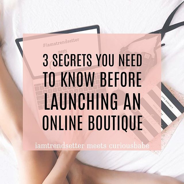 "Have you ever thought about starting your own online boutique, but you're just not sure where to even start?  We know A LOT of babes today are struggling to get started because they have are lost in the sea of information and ideas but no action plan to make it happen. This means that they never take action, and even if they do, they have no means of knowing if it's right or wrong and that only leaves them feeling frustrated and their boutique failing or never even launched.  And ""ain't nobody got time for that""! And here's the deal, even though 90%+ of businesses fail in their first year—it really doesn't have to be a struggle!  And trust me, we know!  Just like many other babes, when boutique biz babe, Garima Talreja of Curious Babe, started she not only downloaded all the freebies she could find on the internet, she also had attended multiple workshops, webinars, invested in courses and still couldn't figure out a way to get her boutique off the ground.  Now she works with other boutique babes to get out of information overload, and into a business plan & Strategy that isn't cookie-cutter and one size fits all! Most importantly, she helps them connect all the dots to work smarter not harder so they can build their dream boutique business and still have a life, or even work their 9-5!  And I specialized in working with brick and mortar boutiques launching their businesses online for 3 years, before now working exclusively with online bossbabes all over the world building their empire!  And we're SO excited to be putting our experiences + expertise together to help babes like you!  This afternoon at 4 CST, Garima and I are teaming up to share the  3 Things You Need To Know Right Now If You Want To Launch An Online Boutique!  AND—we are also sharing access to a killer tool you'll want to get your hands on, and of course will stick around for a Q&A to answer all your burning q's!   link in bio!"