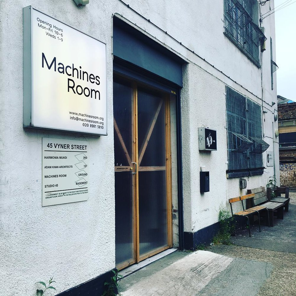 Outside the Machines Room in Bethnal Green, London