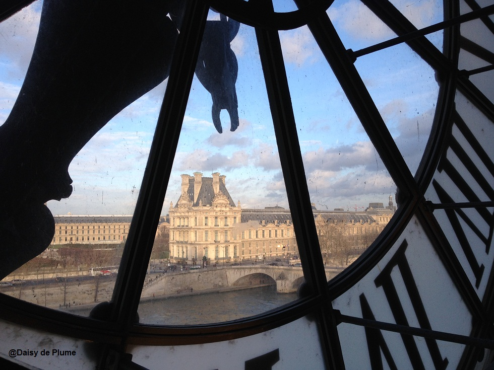 Louvre through Musee d'Orsay's clock - copie