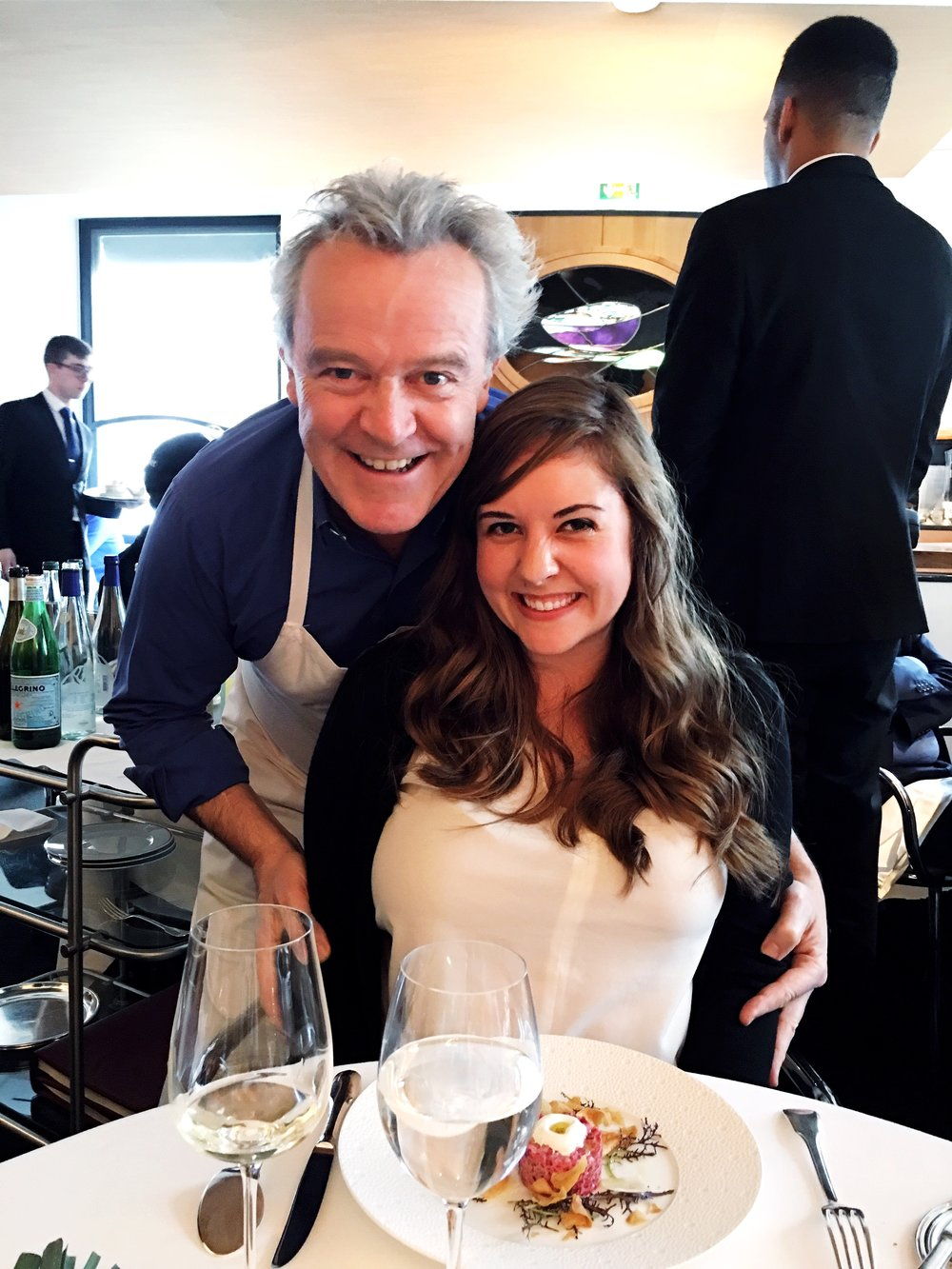 Anne hanging out with Alain Passard of 3* Michelin resto L'Arpège - NBD!