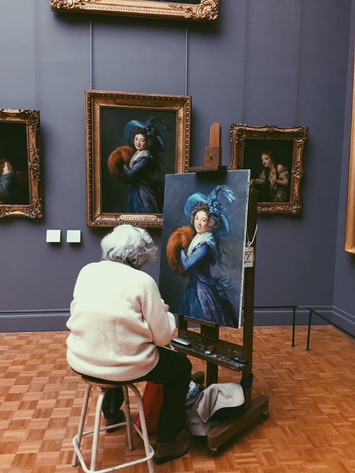 when you just show up to the Louvre and paint it better than the real artist