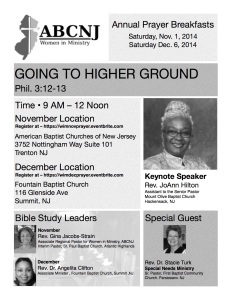 WIM Prayer Breakfast December 2014 Flyer