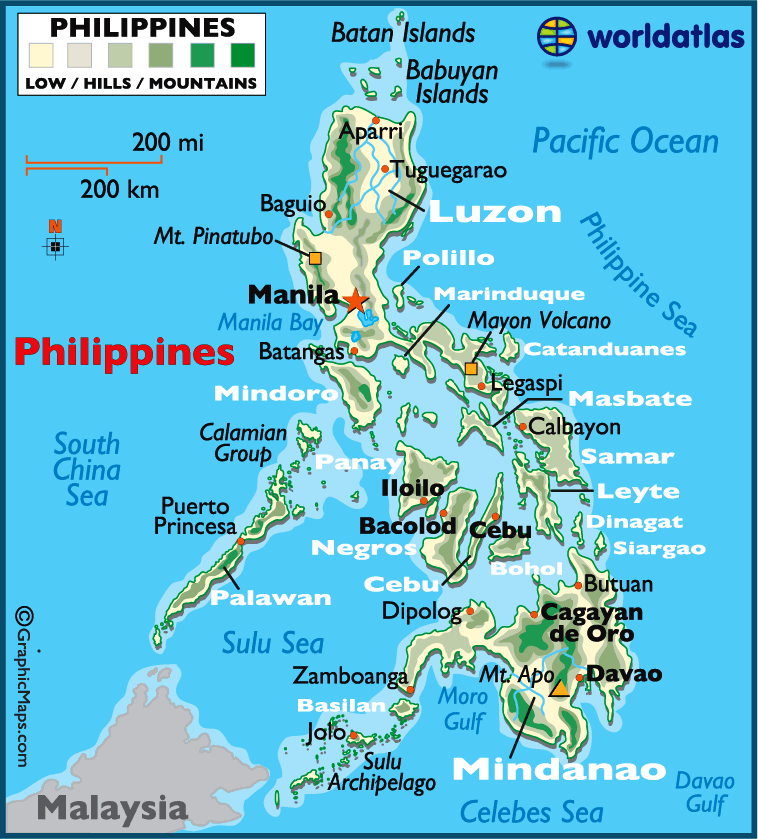 Atlas Map of Philippines