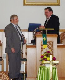 Pastor Gehret and Rev. Mattson at Installation