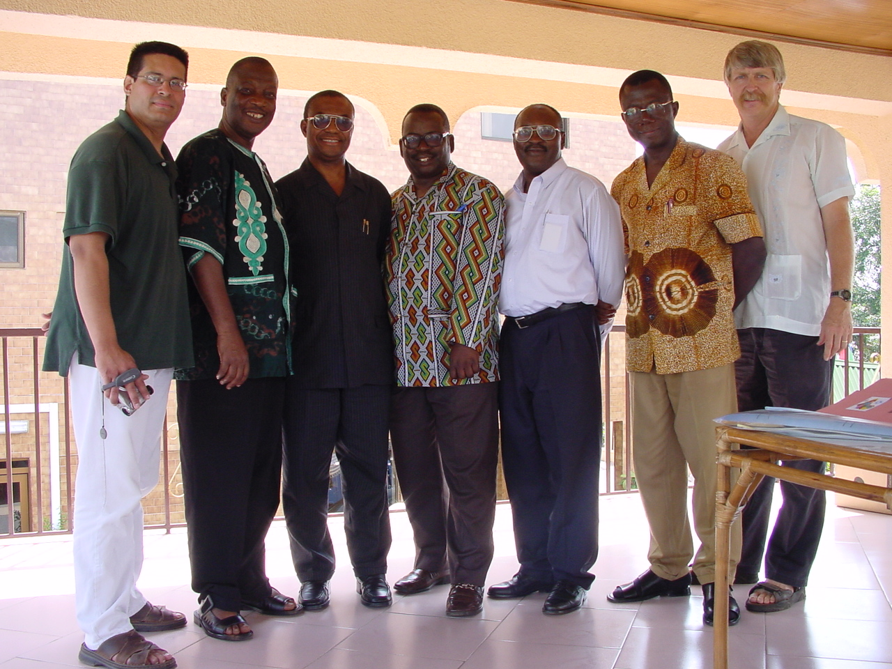 With Ghana Baptist Convention leaders and Francisco Litardo in 2001