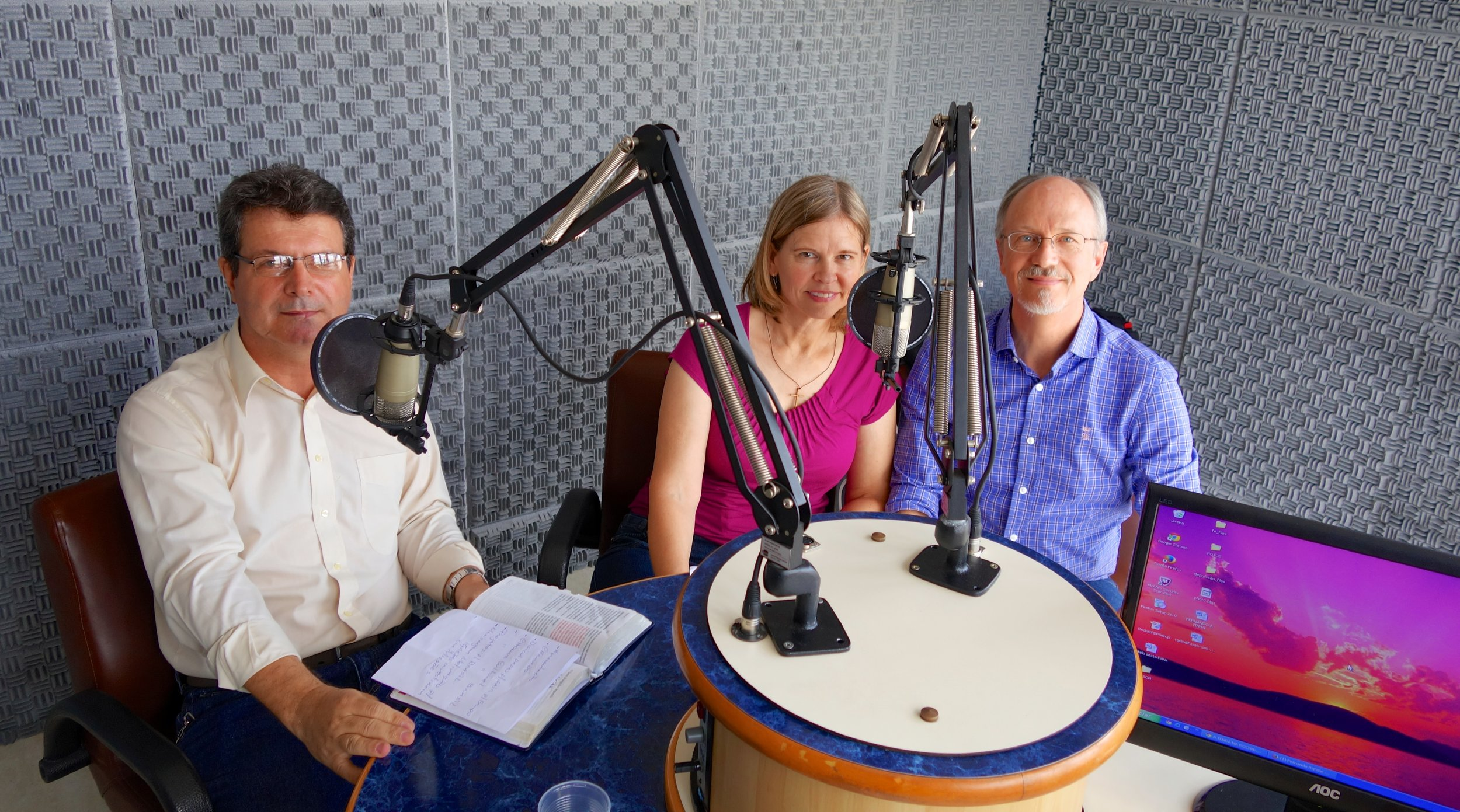 "We enjoyed being on a live radio program with Pr. Wagner on ""what it's like to be a cross-cultural missionary."""