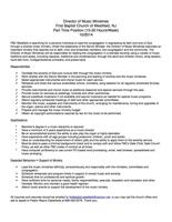 Music Director - PDF