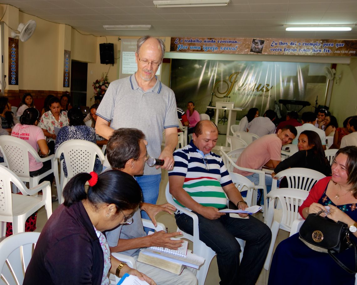 Small group work during an Integral Evangelism retreat in Natal