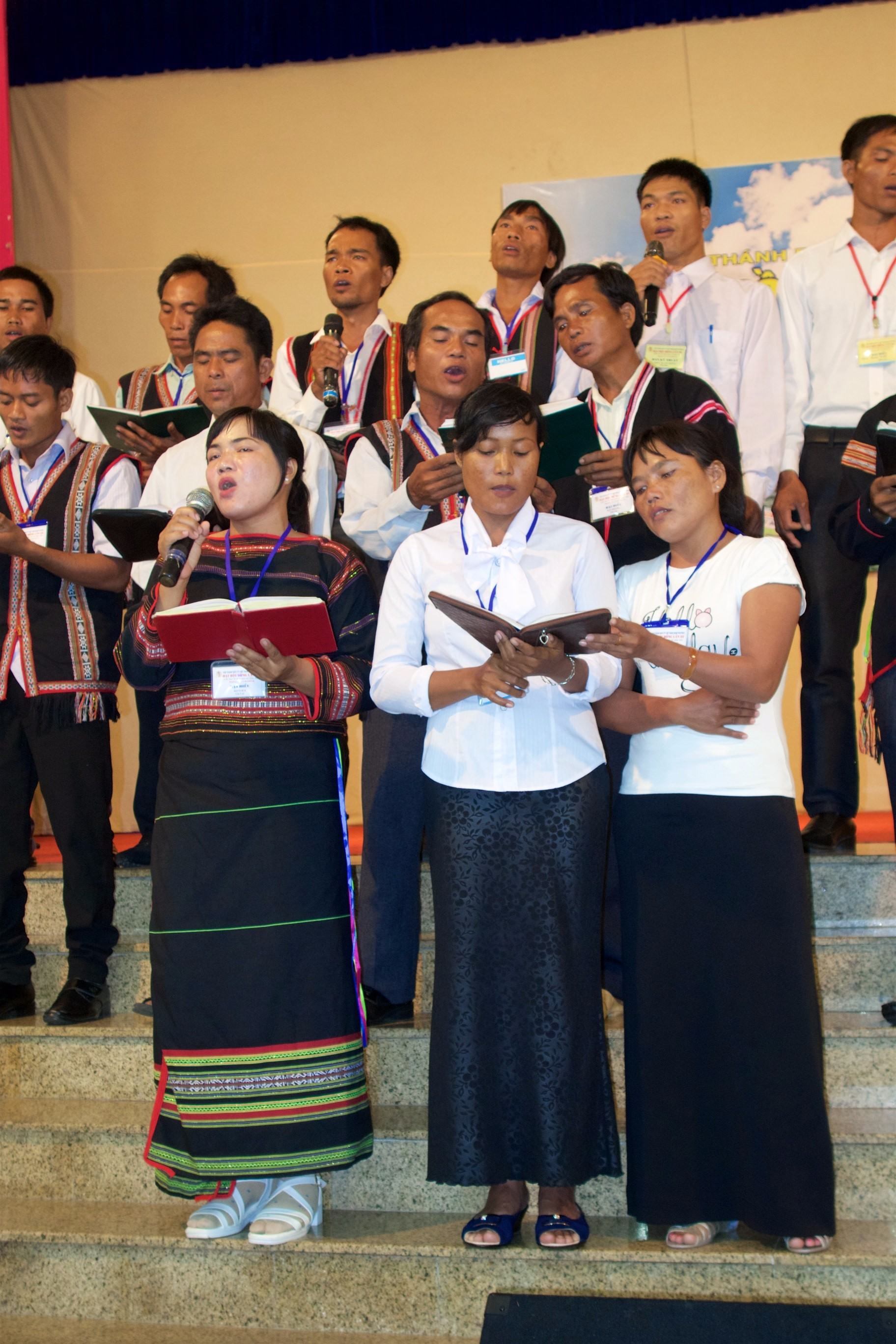 This choir from a hill tribe in Vietnam saved for a whole year to attend the Baptist Assembly. Praise God for a new sense of freedom Vietnamese Baptists feel.