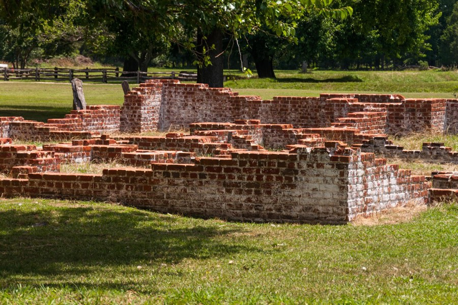 Some ruins of Jamestown, VA