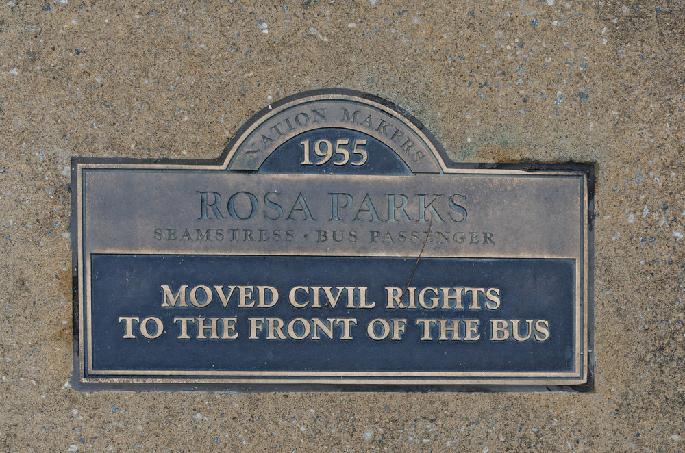 Rosa Parks moved civil rights to the front of the bus.