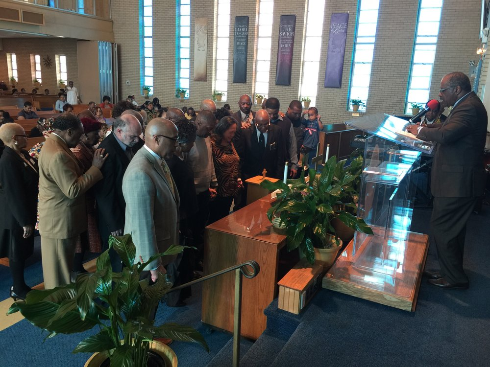 Post-sermon prayer at Shiloh Baptist Church