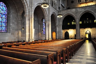 The sanctuary of The Riverside Church in New York City