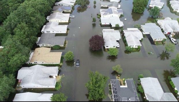 Flooding around Brick, NJ