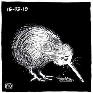 A crying Kiwi memorializes a nation's sorrow.