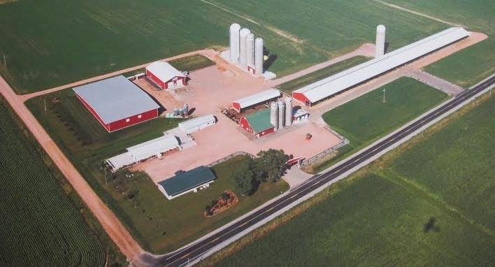 Seubert Calf Ranch facilities in Dorchester, WI   2016