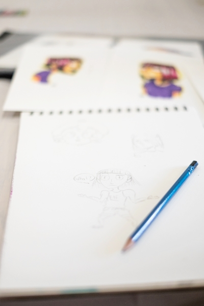 Cartooning - Learn about character development and take home your very own design.