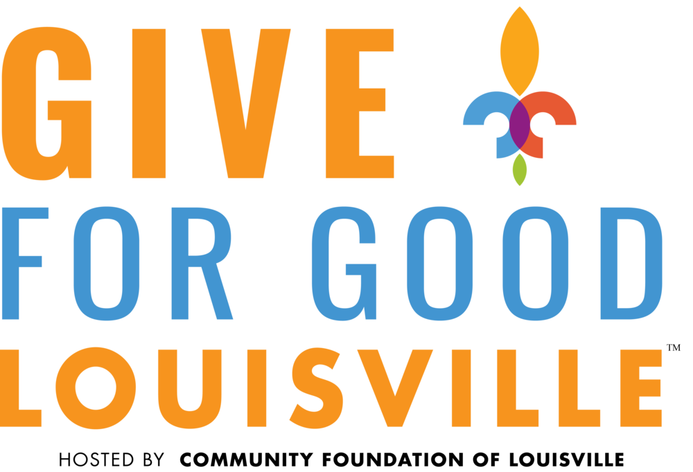 Text graphic that reads Give For Good Louisville. Hosted by Community Foundation of Louisville.