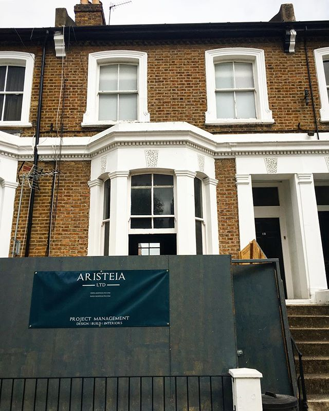 Our new W6 project is go! . A lovely Lower Ground/Raised Ground Maisonette in a Conservation area, this property is going to have some amazing glazing and and an upside-down layout with a bespoke spiral staircase out to the garden. Demo is go, steels are going in - exciting times!